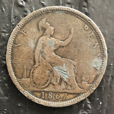 GREATS BRITAIN 1867 ONE PENNY VERY NICE COIN L3