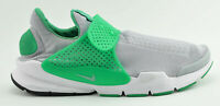 MENS NIKE SOCK DART KJCRD RUNNING SHOES SIZE 13 GRAY WHITE GREEN 819686 004