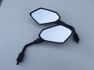 NEW Pair Honda CBR125 Mirrors Black 10mm Thread Left & Right 2004-2005-2006-2007