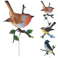 3 Piece Decorative Metal Rust Free Bird Garden Ornament Outdoor Stick Life Set