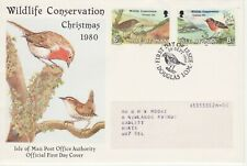 GB Stamps First Day Cover IOM Xmas & Wildlife Conservation, bird SHS Robin 1980