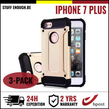 3IN1 Gold Armor Cover Cas Coque Etui Silicone Hoesje Case Or For iPhone 7 Plus