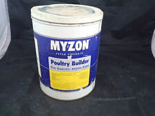 VINTAGE TIN Myzon POULTRY BUILDER LIVE STOCK VETERINARY MEDICINE