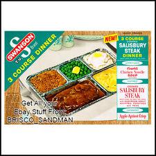 Fridge Fun Refrigerator Magnet SWANSON 3 COURSE TV DINNER: SALISBURY STEAK Retro