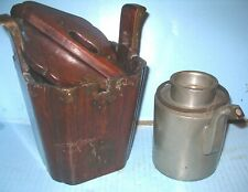 New listing Late 19Th Century Chinese Pewter Teapot Signed in Org Wooden Concealment Box