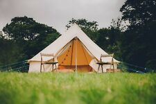 100% Cotton 4m Bell Tent With Zipped In Ground Sheet by Bell Tent Boutique