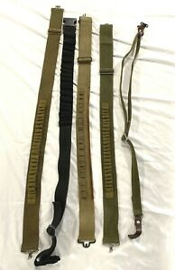 Vintage Military Style Ammunition Belts & Rifle Sling Canvas/Leather Lot of 5