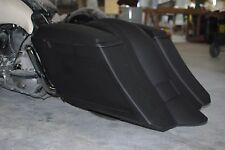"""Bagger Stretched 6"""" Down & Out SaddleBags overlay Fender Harley 1997-2008 flh"""