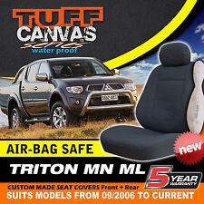 TUFF CANVAS Car Seat Covers Mitsubishi TRITON Double Cab F+R ML MN GLX/GLX-R 3HD