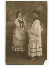 VINT PHOTO MAN   WOMAN HOLDING HANDS DRESSED IN COSTUMES/DUTCH PERIOD CLOTHING?