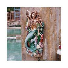 Large Mermaid Wall Art Nautical Figurehead Decor Plaque Hanging Sculpture Statue
