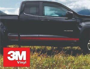 Strobe Rocker 3M Vinyl Sticker Graphic Decals Stripe 2015-2016 Chevy Colorado