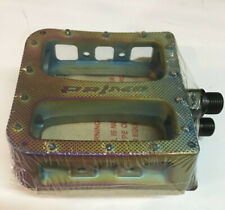 BMX Pedals Primo Stance Clear Green 9//16 inch For  Piece Cranks