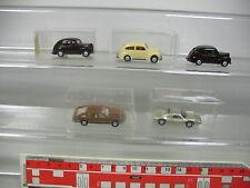 AP411-0,5# 5x Wiking H0 PKW: 820 Ford Taunus+Opel Monza+Porsche Carrera, 1x