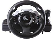 Volante de carreras PC/PS2/PS3/USB Con pedales Racing Wheel Windows Feedback