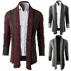 Fashion Men's Slim Fit Long Sleeve Knitting Cardigan Splice Casual Coat Jackets