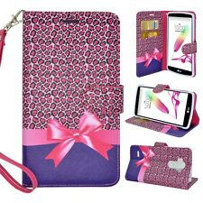 For LG G Stylo LS770 Design Phone Case Hybrid Leather Wallet Pouch Flip Cover