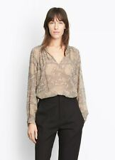 NWT $345 Vince Floral Print Silk Blouse; S