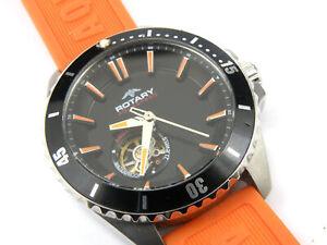 Rotary Mens AGS90078/04 Swiss Automatic Sapphire Aquaspeed Watch - 100m