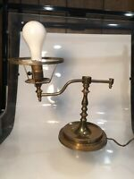 Vintage Antique Heavy Brass Student Hurricane Table Lamp  Parts Repair