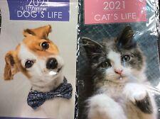 2021 midi wall calendar Dogs life cats life size (37 cm x 23 cm)