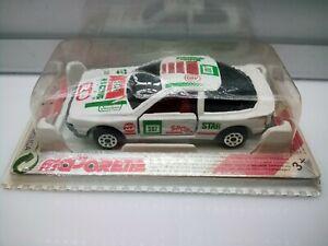 Majorette  #249 1986 Toyota Celica (T160) - White - Star Racing Team - Model Car