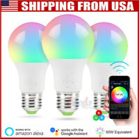 Dimmable E27 RGB LED Wifi Smart Bulb Light Bulbs For Amazon Alexa Google Home US