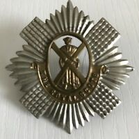The Royal Scots Regiment British Army Military Hat Cap Badge Vintage