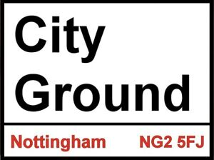 City Ground Sign, Football sign, Nottingham Forest sign. Retro wall sign