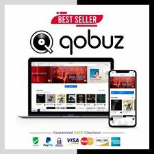 Qobuz Studio Plan | 1 YEAR WARRANTY | Studio HiFi Quality | FAST DELIVERY + Gift