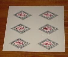 Print Proof Sheet VINTAGE Coca Cola Commemorative Diamond Shape Bottle Labels
