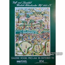 "James Rizzi: POSTER / PLAKAT, Golf 1993 (""Strokes of Genius""), 68x98cm"