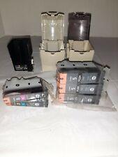 Canon Lot Printer Supplies (3) #5 Black, (1) #8 Cyan (1) #8 Magenta Cases