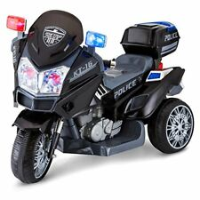 Kid Trax Police Rescue Motorcycle 6V Electric Ride on Black