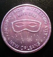 NEW ORLEANS AMERICA'S MOST INTERESTING CITY MARDI GRAS TOKEN!  BB625XTS2