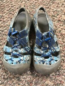 Keen Blue/Gray Camo Sport Water Shoes Youth Size 2