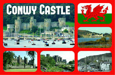 CONWY CASTLE, WALES - SOUVENIR NOVELTY FRIDGE MAGNET - SIGHTS / FLAGS - GIFTS