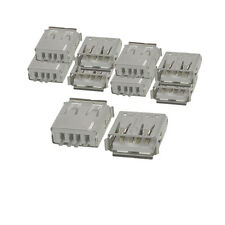 10 Pcs Straight Solder Type USB A Female Plug Jack Connector New