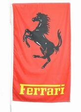 FERRARI FLAG BANNER  BLACK HORSE VERTICALN f50 5 X 3 FT 150 X 90 CM