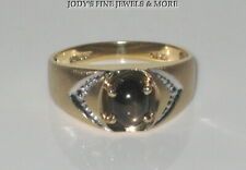 SENSATIONAL ESTATE 10K YELLOW GOLD BLACK STAR SAPPHIRE RING Size 7.25 LOVE STORY