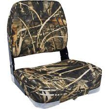 Folding Boat Fishing Seat Hunting Low Back Camo Marine-Grade Vinyl Chair Padded