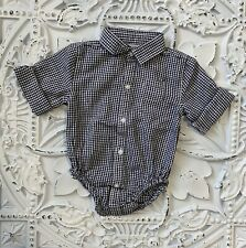 Janie And Jack Long Sleeve One Piece Button Up Polo 3 To 6 Mo New
