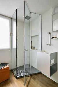 Duschrückwand Rückwand Dusche Nischendusche Fliesenspiegel Wandverkleidung weiß