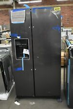 """Whirlpool Wrs588Fihv 36"""" Black Stainless Side By Side Refrigerator Nob #102601"""