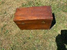Vintage Industrial Storage box in Dark Wood