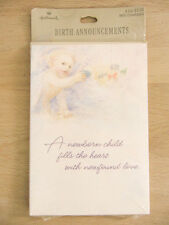 New Hallmark Vintage Newborn Child 8 Birth Announcements & Envelopes