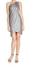 AQUA New One-Shoulder Sequin Dress Size 2 MSRP $188 #HN 312