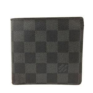 Louis Vuitton Damier Graphite Portefeiulle Marco Bifold Wallet/E1033
