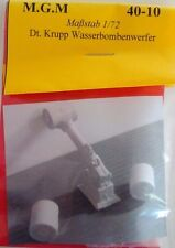 MGM 040-10 1/72 Resin WWII German Krupp Depth Charge Launcher