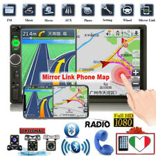 "7"" 2DIN AUTORADIO BLUETOOTH STEREO RADIO MP5 GPS LETTORE FM USB AUTO TELECAMERA"